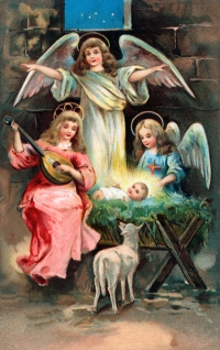 Angels with infant Jesus